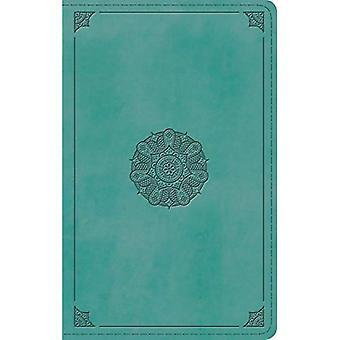 ESV große persönliche Druckgröße Bibel (Trutone, Türkis, Emblem Design)