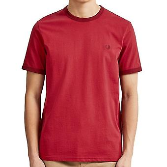 Fred Perry M3519 Ringer Camiseta Rich Red