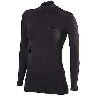Camisa de manga comprida Falke impulso de esqui - preto