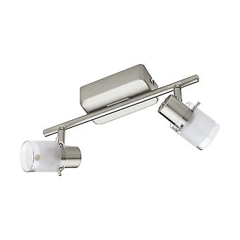 Eglo - Orvieto 1 Nickel satiné & EG93702 de 2 Spot luminaire LED réglable verre satiné