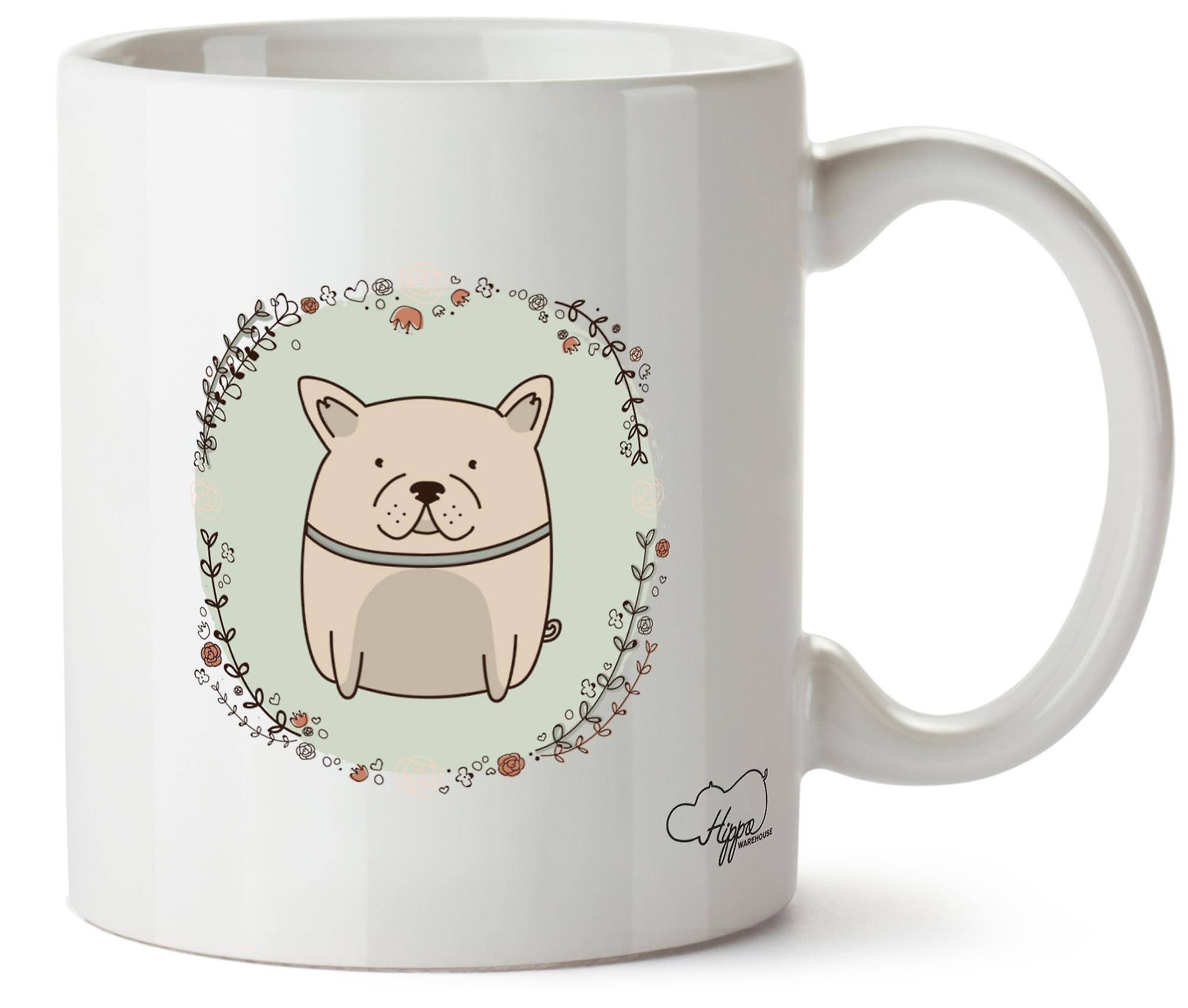 Hippowarehouse Cute Frenchie Dog Printed Mug Cup Ceramic 10oz