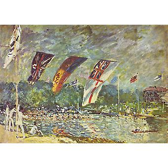 Regattas at Molesey, Alfred Sisley, 60x42cm