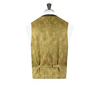 Dobell Mens Charcoal Waistcoat Regular Fit Windowpane Check
