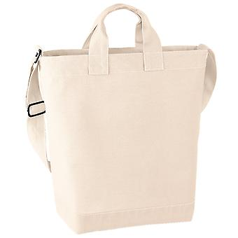 Bagbase Canvas Daybag / Hold & Strap Shopping Bag (15 Litres) (Pack of 2)