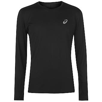 Para hombre Asics base LS Run T redondo cuello camiseta Tee
