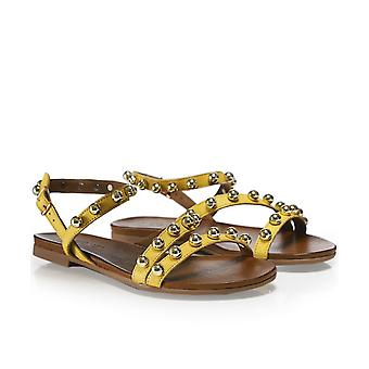 Inuovo Leather Studded Sandals