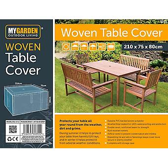 My Garden Woven Table Cover Waterproof Outdoor Bench Shelter 210x75x80cm