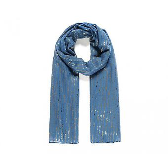 Intrigue Womens/dames métallisé Raindrop impression foulard