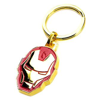 Marvel Iron Man Gold PVD Plated Keychain