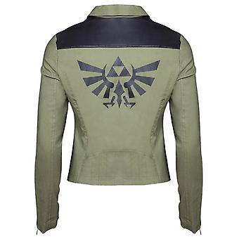 Women's The Legend of Zelda Tri-Force Logo Biker Jacket