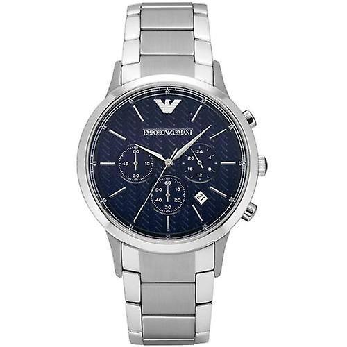 Armani Ar2486 Men's Steel Bracelet Blue Dial Chronograph Watch