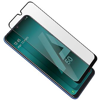Galaxy A50 Film Screen Protector 9H Tempered Glass Muvit Bevelled Edge - Black