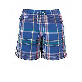 Polo Ralph Lauren Bambinenswear pantaloncini da nuoto con coulisse multi checked