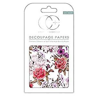 Craft Consortium Vintage Bouquet Decoupage Papers (CCDECP231)