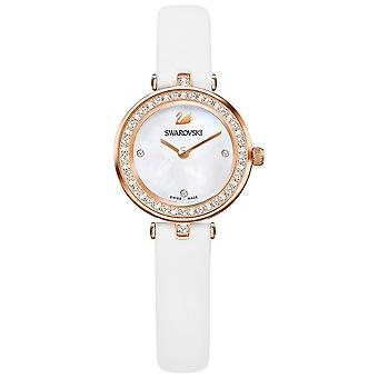 Swarovski Aila Dressy Mini White Rose Gold-Tone Leather Ladies Watch 5376651