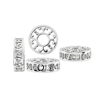 Storywheels Herzlichen Glückwunsch Silber & Diamant Charme S504D