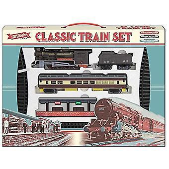 Retro klassisk store legetøj togsæt med tog