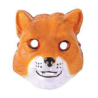 Bristol Novelty Unisex Adults Plastic Fox Mask