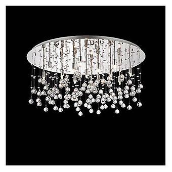 15 Light Extra Large Semi Flush Ceiling Pendant Chrome