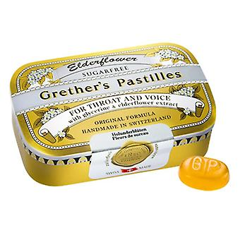 Grether ' s elderflower pastilles cukr free 110g