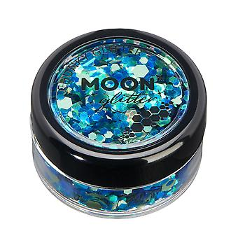 Mystic Chunky Glitter by Moon Glitter – 100% Cosmetic Glitter for Face, Body, Nails, Hair and Lips - 3g - Atlantis
