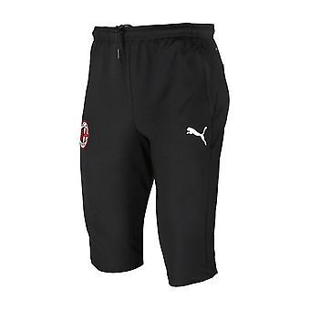 2019-2020 AC Milan Puma Three Quarter Length Training Pants (Black)