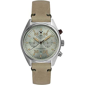 Mondia campus tutor chrono Japanese Quartz Analog Man Watch with Mi743-2CP Cowskin Bracelet