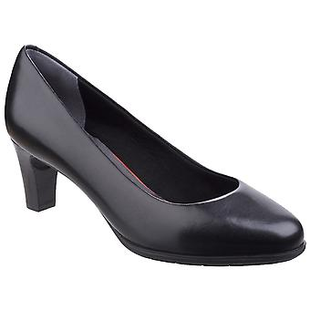 Rockport Womens Melora Plain Pump Shoe Black Leather
