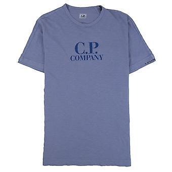 CP Company kledingstuk geverfd logo T-shirt blauw 874