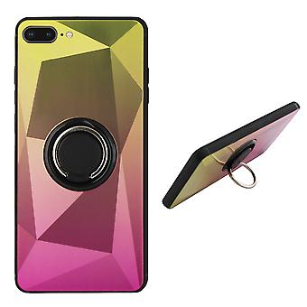 Back Cover Ring/magnet Aurora iPhone 8 Plus/7 Plus gold + Pink