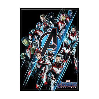 Avengers Endgame Group Quantum Realm Costume Shot Magnet