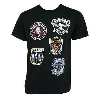 The Walking Dead Factions Black Tee Shirt