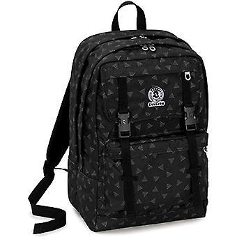 Invicta ryggsäck Duffy Triangle-svart-30 lt-dubbel fack-laptop ficka upp till 15 ' '-skola & fritid-45 cm