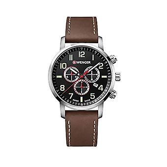 Wenger Unisex Quartz Watch with leather band 01.1543.103