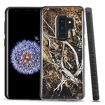 MYBAT Yellow/Black Vine Gel/Black Fusion Protector Cover  for Galaxy S9 Plus