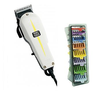 Wahl Super Taper Clipper und 1-8 farbige Clipper Comb Set