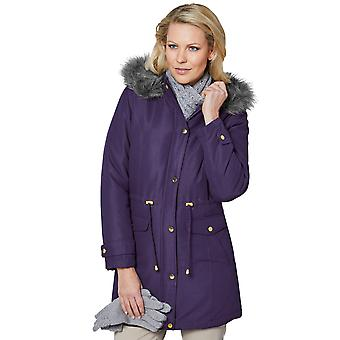 Amber Ladies Microfibre Parka Jacket