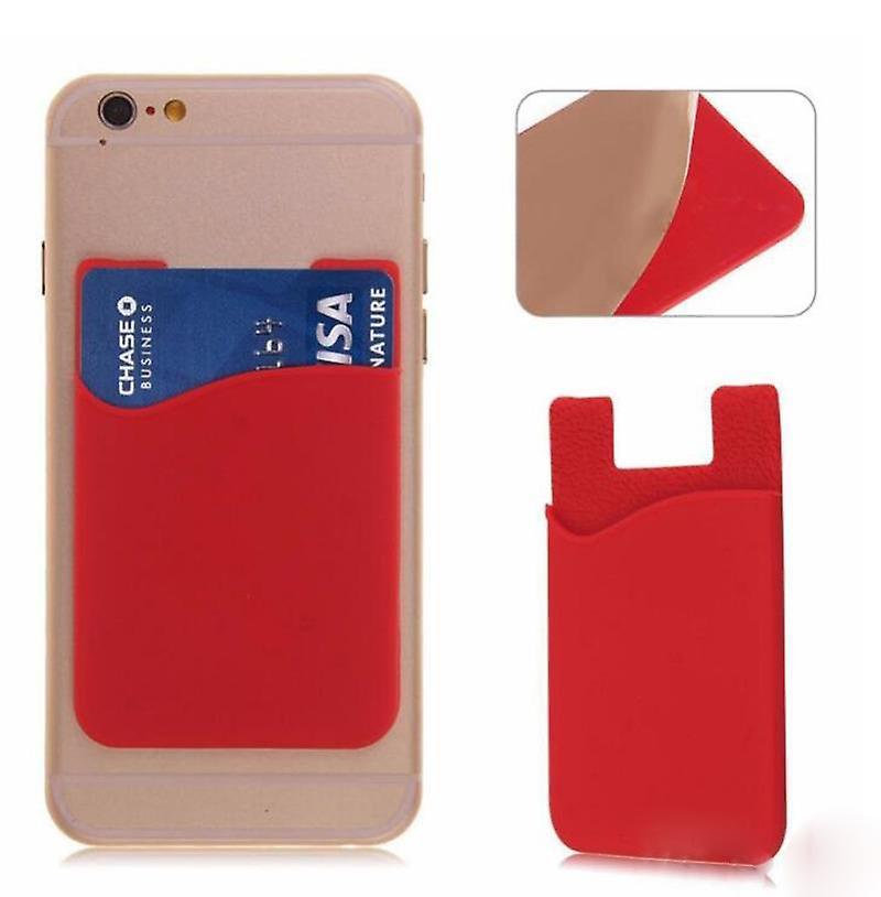 Silikon sock wallet card cash pocket sticker red