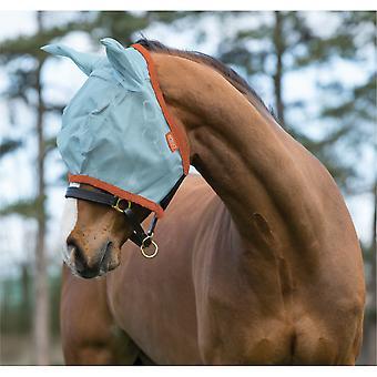 Amigo Pony/horse Flymask - Aqua/portocaliu