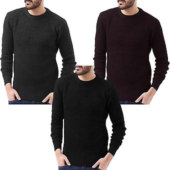 Brave Soul Mens Slovak Warm Long Sleeve Crew Neck Pullover Jumper Sweater Top