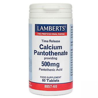 Lamberts Calcium Pantothenate 500mg Time Release Tablets 60 (8057-60)