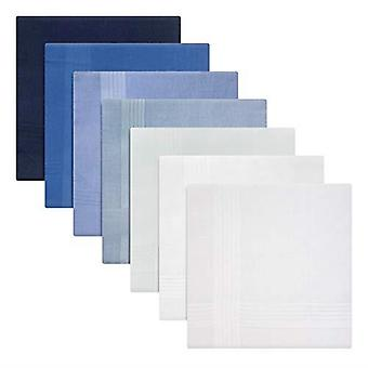 Mens/Gentlemens  Handkerchiefs Dyed Cotton  Blue To White With Satin Stripe Borders