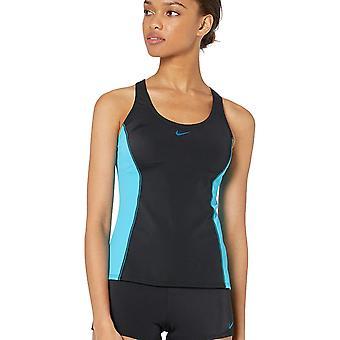 Nike Swim Women's Color Surge Powerback Tankini Swimsuit Set,, Black, Size Large
