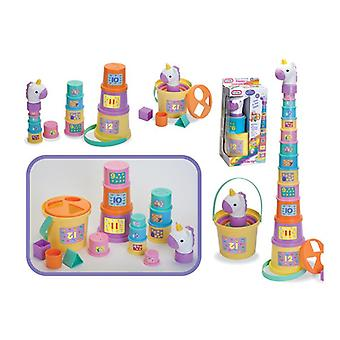 Poppy The Unicorn Pile up Stacker Cups toys