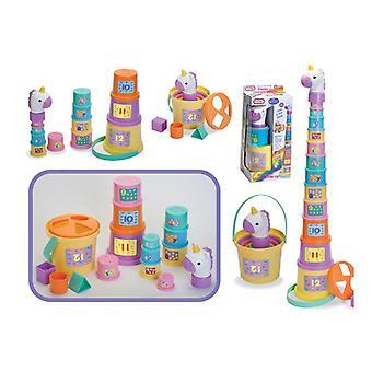 Klaproos de Eenhoorn stapel omhoog Stacker cups speelgoed