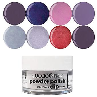 Cuccio Pro pulver polsk negle farve dip system dipping Powder-drama dronning samling sæt (8 X 14g) (CPDA9209)
