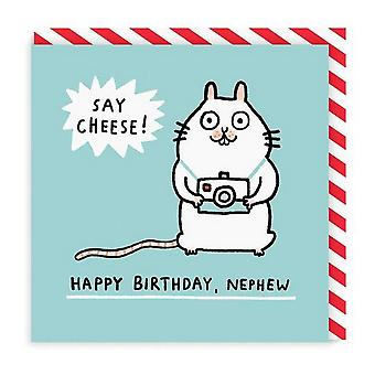Ohh Deer Mouse Nephew Square Birthday Card