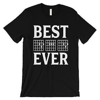أفضل أبي من أي وقت مضى الغيتار وتر الرجال الأسود الحلو Thougthful قميص فخور