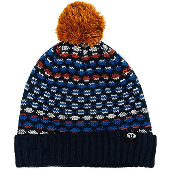 Animal Boys Huey Knitted Warm Woolly Chunky Knit Roll Up Beanie Hat