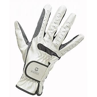 Busse Gloss Adult Horse Riding Gloves - Off White